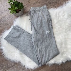 NIKE Gray Straight Leg Sweatpants